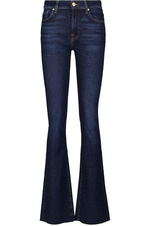 7 for all Mankind Damen High Waisted - Mid-Rise-Bootcut Jeans