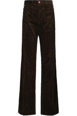 Polo Ralph Lauren Damen High Waisted - High-Rise-Schlaghose aus Cord