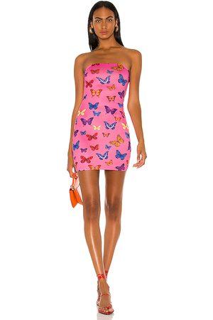 superdown Chloe Strapless Bodycon Dress in - Pink. Size L (also in XXS, XS, S, M, XL).