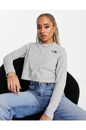 The North Face Damen Lange Ärmel - Cropped long sleeve t-shirt in grey