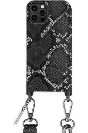 Ideal of sweden Statement Phone Necklace Case iPhone 12 Pro Max Black Silver Snake