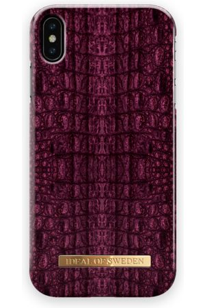 Ideal of sweden Fashion Case iPhone XS Max Burgundy Croco