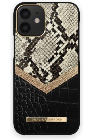 Ideal of sweden Atelier Case iPhone 12 Mini Midnight Python