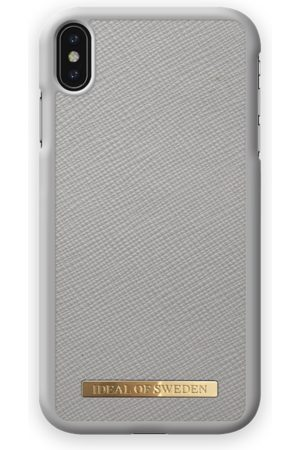 Ideal of sweden Saffiano Case iPhone XS Max Light Grey