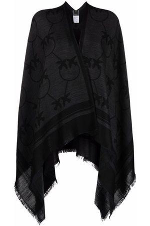 Pinko Damen Jacken - Monogram-print wool cape