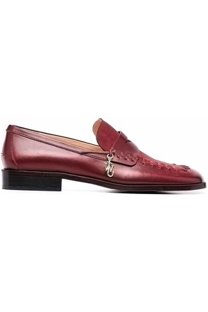 J.W.Anderson Halbschuhe - Logo-plaque square-toe loafers