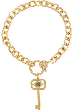 Ileana Makri Armband Eye Key aus 14kt mit Diamanten