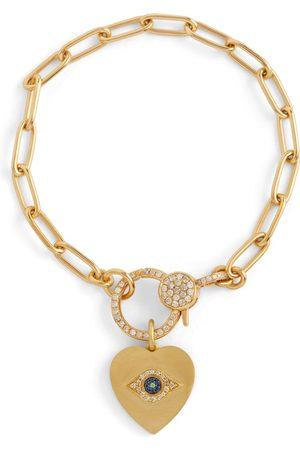 Ileana Makri Armband Eye Heart aus 14kt mit Diamanten