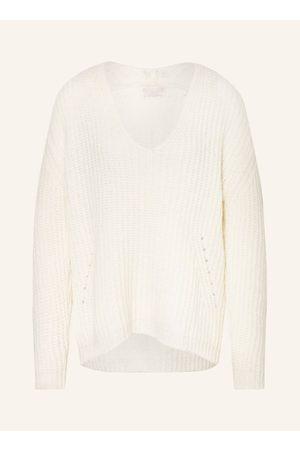 Mrs & HUGS Pullover Mit Alpaka weiss