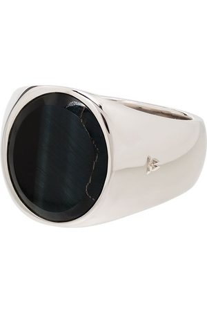 TOM WOOD Herren Ringe - Sterling silver hawk's eye ring