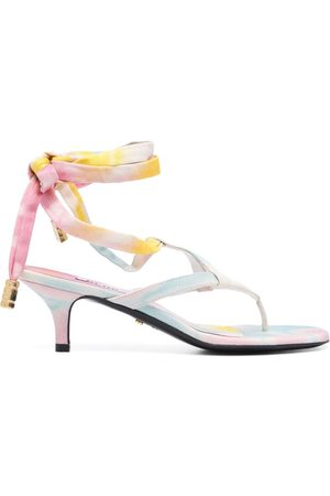 GCDS 70mm tie-dye thong sandals