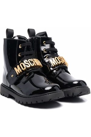 Moschino Logo-touch strap ankle boots