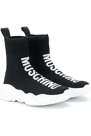 Moschino Logo print sock trainers