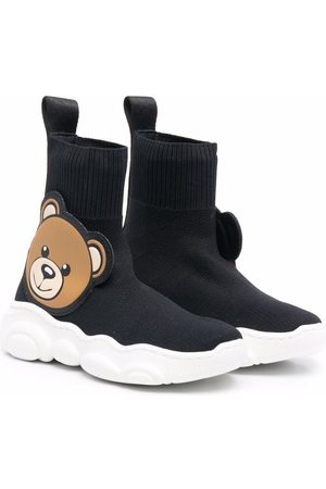 Moschino Mädchen Schuhe - Teddy bear-embellished sock-style sneakers