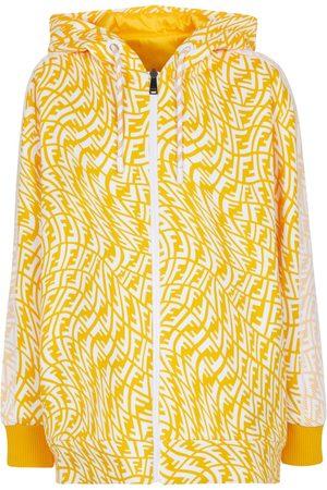 Fendi Damen Outdoorjacken - Wendbare Jacke aus Baumwolle und Nylon