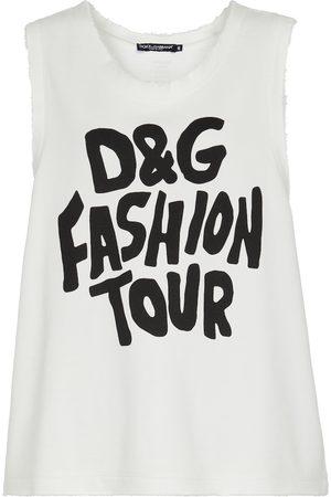 Dolce & Gabbana Bedrucktes Top aus Baumwolle