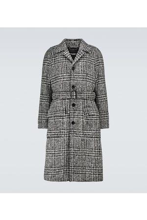 Dolce & Gabbana Karierter Mantel aus einem Wollgemisch