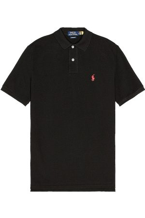Polo Ralph Lauren Classic Fit Mesh Polo in - Black. Size L (also in S, M, XL/1X).