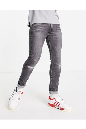 Levi's Levi's 519 super skinny fit distressed hi-ball jeans in washed black