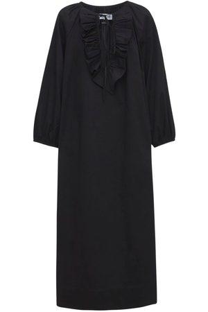 """Acheval Pampa Damen Lange Kleider - Langes Kleid Aus Baumwollsatin """"gorrion"""""""