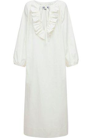 """Acheval Pampa Langes Kleid Aus Baumwollsatin """"gorrion"""""""