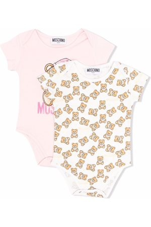 Moschino Teddy Bear two-pack babygrows