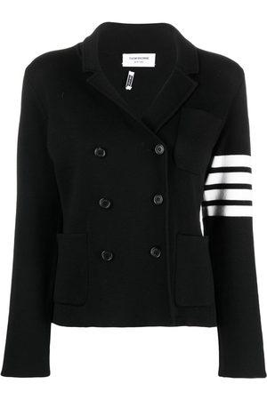 Thom Browne 4-Bar stripe knitted blazer