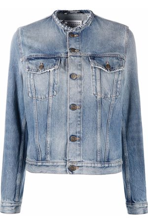 Maison Margiela Damen Jeansjacken - Collarless denim jacket