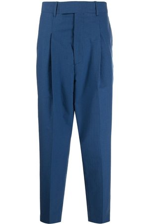 Paul Smith Grid-pattern pressed-crease tailored trousers