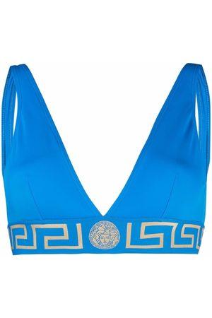 VERSACE Greca-band triangle bikini top
