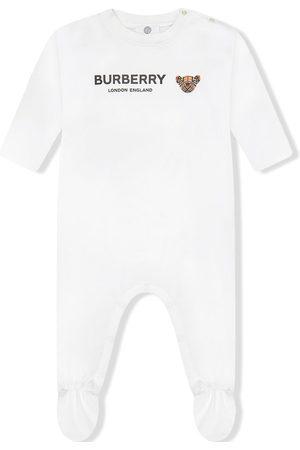 Burberry Thomas Bear-print sleepsuit