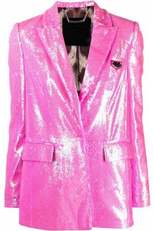 Philipp Plein Sequin-embellished single-breasted blazer