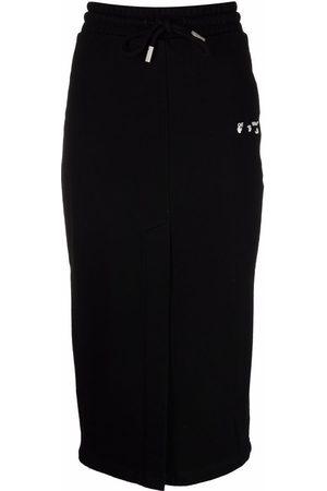 OFF-WHITE Damen Bedruckte Röcke - Logo-print pencil skirt