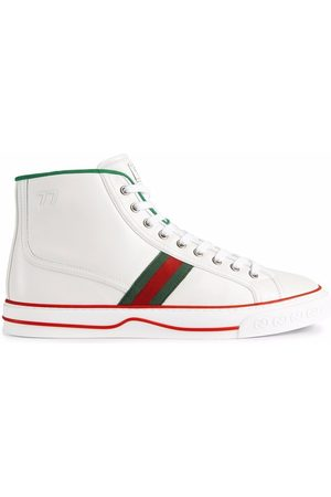 Gucci Web-stripe lace-up sneakers