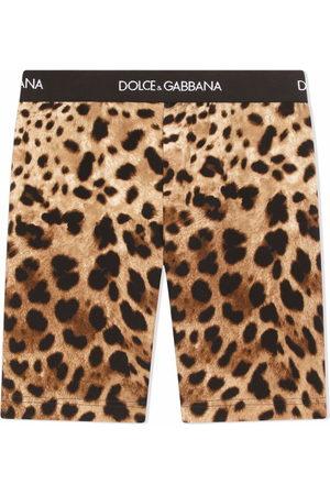 Dolce & Gabbana Leopard-print cycling shorts