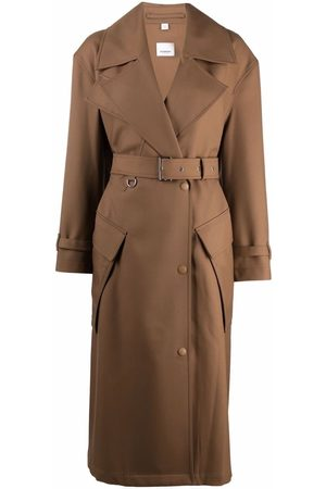 Burberry Pocket-detail belted trench coat