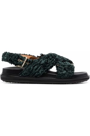 Marni Fussbet faux-shearling sandals