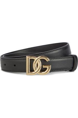 Dolce & Gabbana Damen Gürtel - Gürtel DG aus Leder