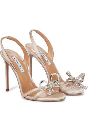Aquazzura Damen Sandalen - Verzierte Sandalen Babe 105 aus Satin