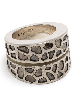 Parts of Four Ringe - Diamond encrusted sterling silver ring