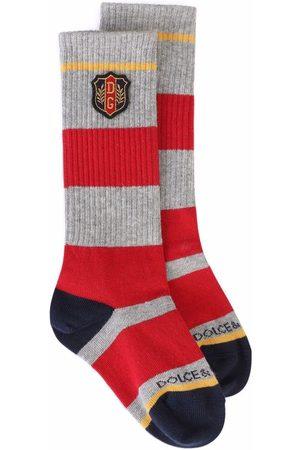 Dolce & Gabbana Socken & Strümpfe - Logo-patch knit socks