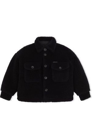 Dolce & Gabbana Kids Button-up teddy coat