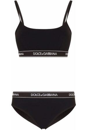 Dolce & Gabbana Damen Bikinis - Branded-band bikini set