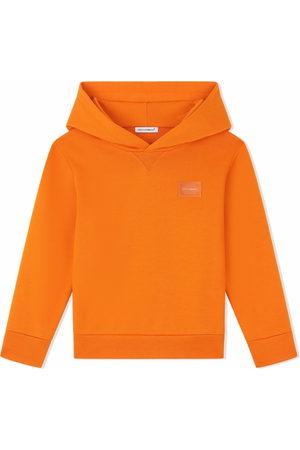 Dolce & Gabbana Kids Cotton logo-plaque hoodie