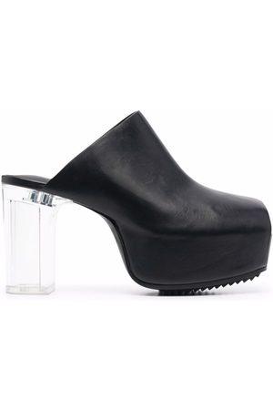 Rick Owens Damen Clogs & Pantoletten - Platform leather mules