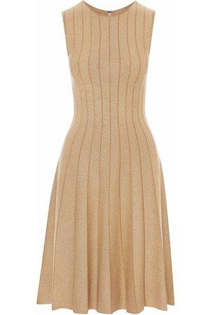 Oscar de la Renta Damen Cocktail & Partykleider - Lurex pleated midi dress