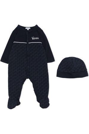 BOSS Kidswear Monogram-print pajama set