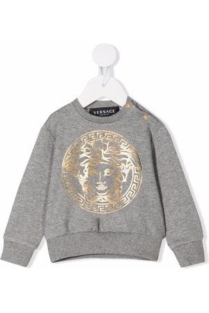 VERSACE Shirts - Logo-print cotton sweatshirt