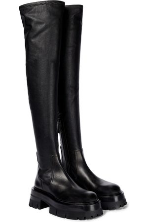 VERSACE Overknee-Stiefel Leonidis aus Leder