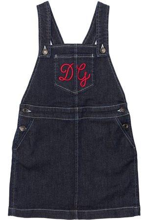 Dolce & Gabbana Kleid Aus Baumwolldenim Mit Logo